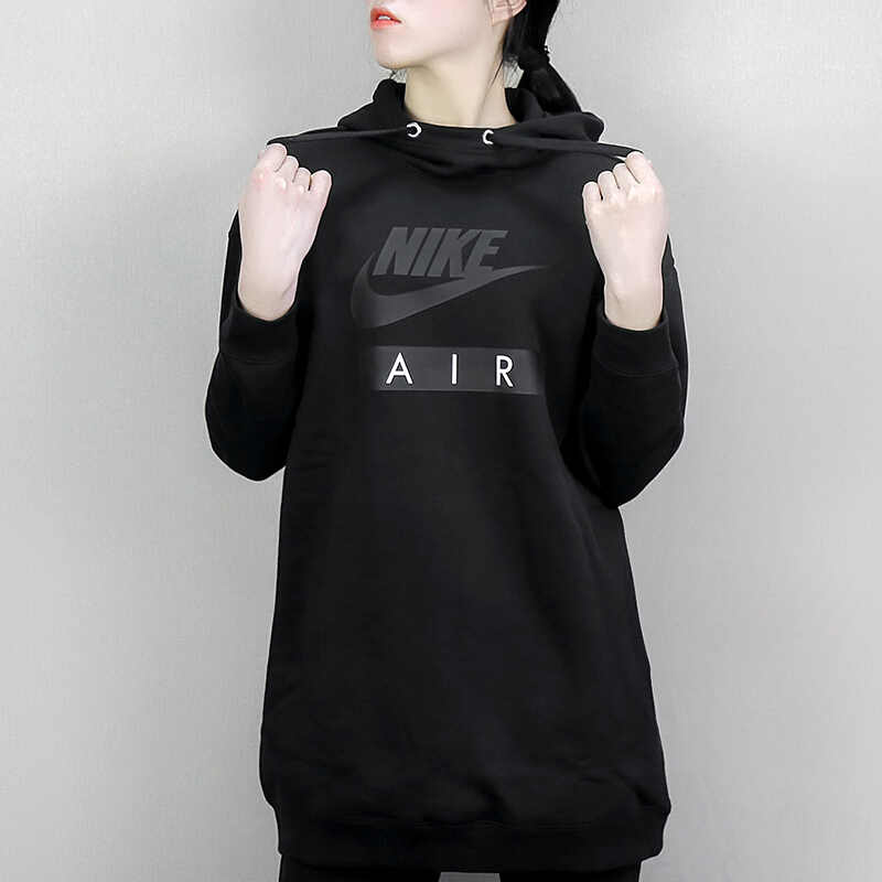 521549be0b73 ... Original New Arrival 2018 NIKE Women s HOODIE DRESS AIR Pullover  Hoodies Sportswear