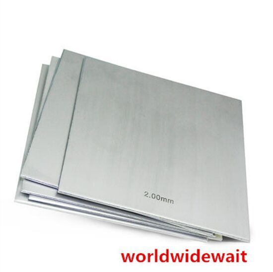 1pc 304 Stainless Steel Polished Plate Sheet Thick 1mm - 2.5mm X 100mm X 100mm