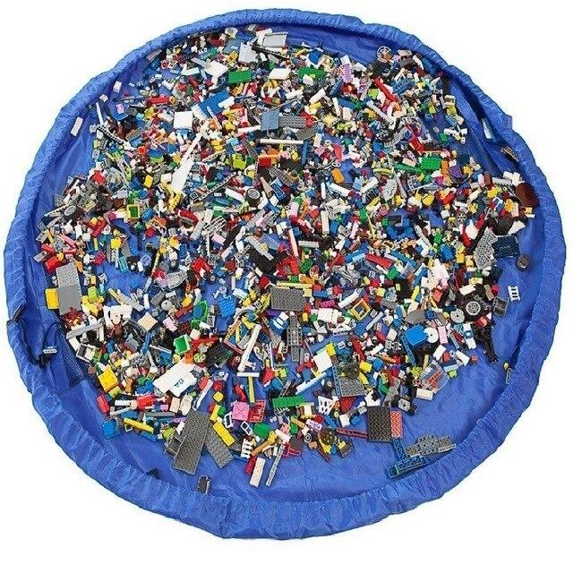Niños bebé jugar Mat alfombra de juguete de baño de bolsa de almacenamiento organizador cesta de gran capacidad manta cajas de juguetes