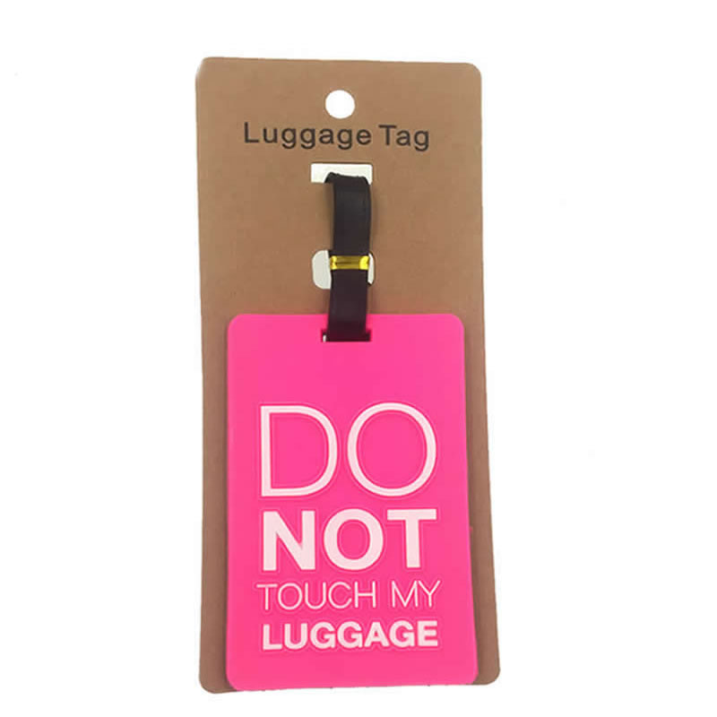 Cartoon Do Not Luggage Tag Travel Accessories Women Silica Gel Suitcase ID Address Holder Baggage Boarding Tag Portable Label