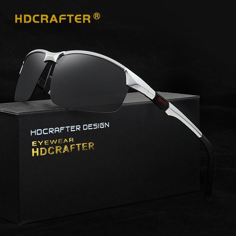 HDCRAFTER Aluminum Magnesium Sunglasses Mens Polarized Sunglasses Men Driving...