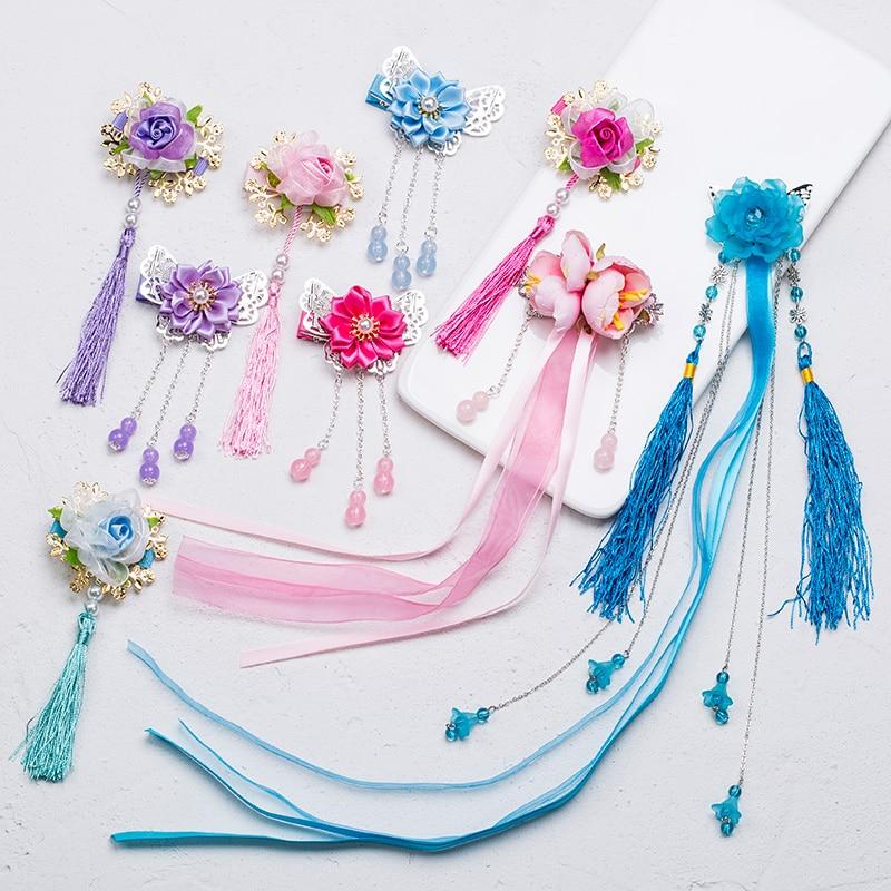 2018 nuevas muchachas del bebé flor mariposa borlas lindo horquillas - Ropa de bebé