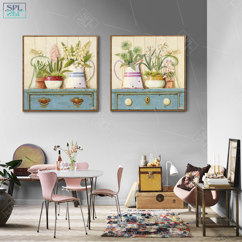 SPLSPL-Nordic-Girls-Room-Decor-Hand-Drawn-Decorative-Picture-Coffee-Latte-Watercolor-Flower-Wall-Art-Canvas (4)