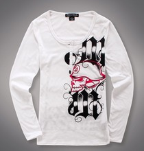 Gothic Women Motorcycle MX  Tattoo Print Long Sleeve T Shirt USA Size XS,L