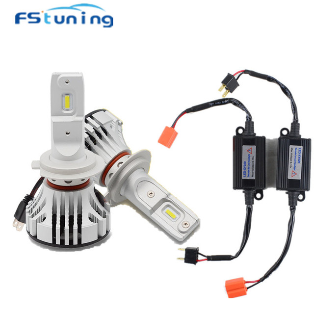 FStuning 12000lm F2 H7 led headlight with led canbus decoder for H7 car led headlights no error load resistor canbus canceller