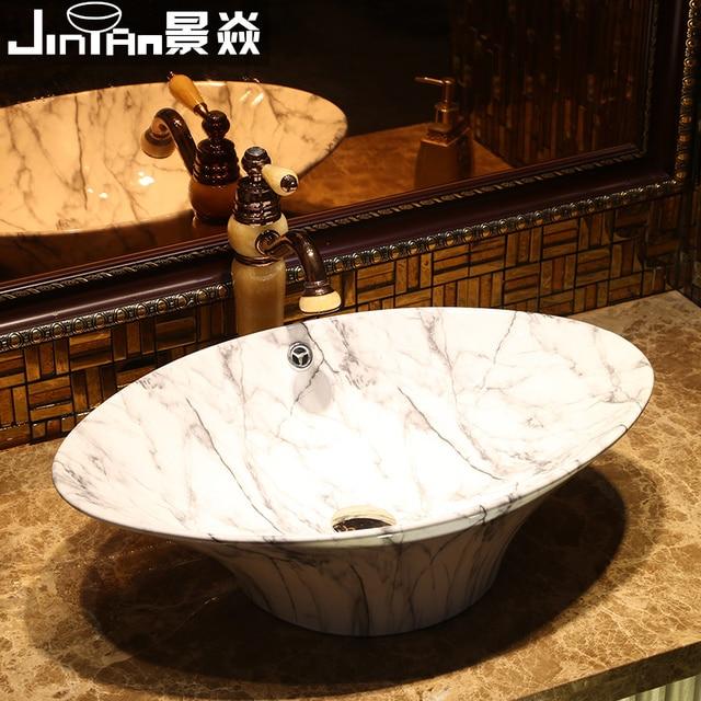 Jing Yan kreative imitation marmor arbeitsplatte stil retro keramik ...