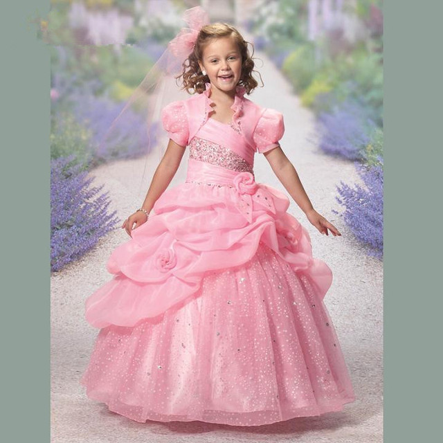 Flower Girl Dresses with Jacket