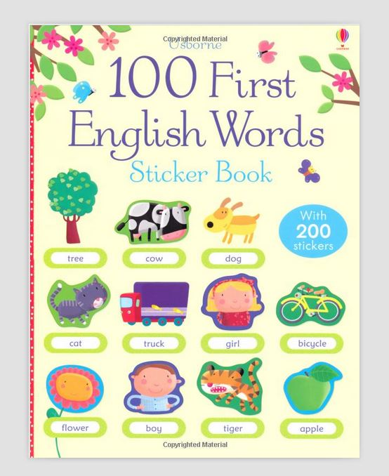 Free shipping Best Picture books for children 100 First English Words Sticker Book 100 first english words sticker book
