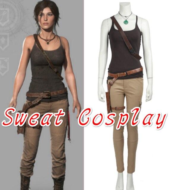 6a22df425 € 81.02 |De alta calidad de Tomb Raider Lara Croft traje Lara Croft Cosplay  juego traje de adulto de la mujer de Halloween del traje de Cosplay en ...
