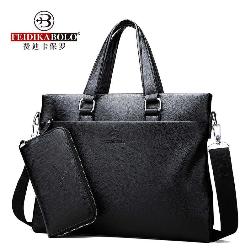 2018 New Fashion Men Handbag Business Men's Bag Large-Capacity Computer Bag Fashion Black Male Shoulder Bags Business Briefcases