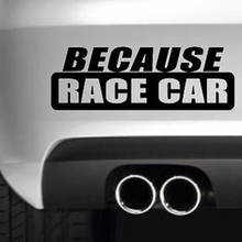 цена на 15*5.2cm Because Race Car Funny Car Bumper Sticker Funny Drift Jdm 4x4 Funny Car Window Bumper Novelty Drift Vinyl Decal