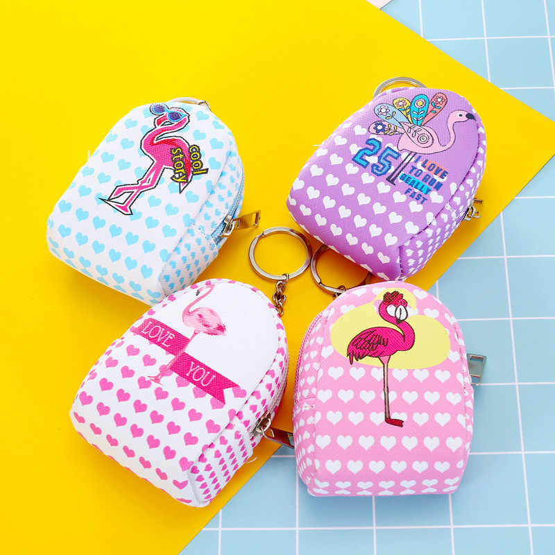 Mini Flamingo Coin Purses With Chain Satchel Shape Bag for Women Bags Holder Kawaii Animal Wallet Small Bag Zipper Pouch Gift