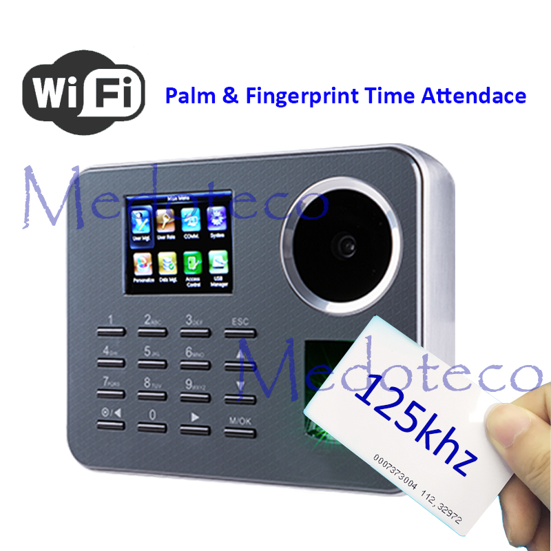 WIFI Biometric Palm Time Attendance BioID Fingerprint Time Recording Rfid Card Electronic Attendance Machine