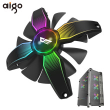 Aigo 120 Mm RGB PC Case Fan Komputer Ultra Silent Tinggi Aliran Udara Penggemar Case Cooler Cooling 12 V 4pin penggemar Game untuk Komputer(China)