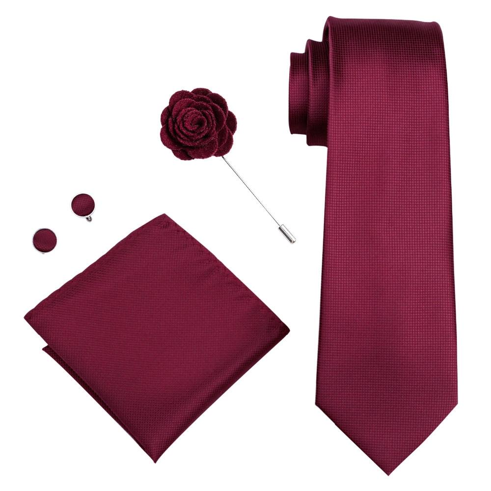 100/% Pure Silk Neck Tie Cuff-links /& Handkerchief Set Purple White Small Pattern