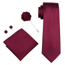 Новое поступление красная однотонная мужская Брошь галстук dibangu