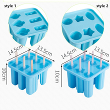 20 шт./лот силиконовая форма для Фруктового мороженого на палочке силикагель Форма для мороженого 6 полости лоток для льда кубик производитель Десерт Формы с крышкой Бесплатные палочки
