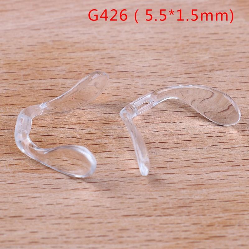 2PCS New Silicone U Shape Anti Slip Nose Pads Eyeglass Sunglasses Stick On Pad  Eye Glasses Multi