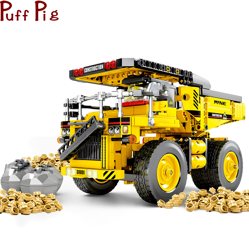 807pcs Technic Dump Truck Building Blocks DIY Legoingly Toys Cars City Engineering Construction Bricks Toys For Kids Boys