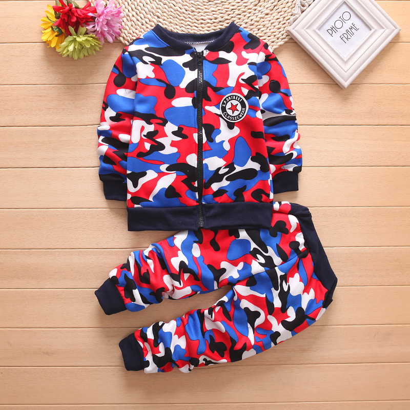 32 winter Kids Clothes Camouflage Thicker Baby Boys Clothing Set Toddler Boy Clothing Boutique Children Kids girls Costume suit