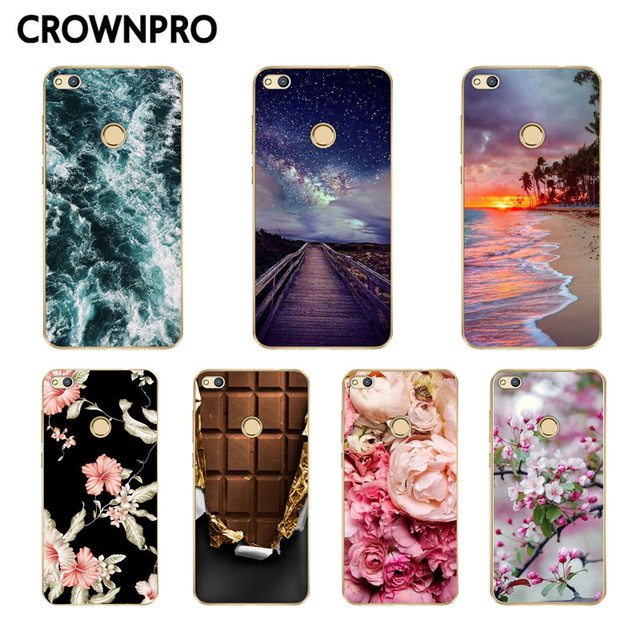 CROWNPRO Silicone Case Huawei Honor 8 Lite Case Cover 5.2