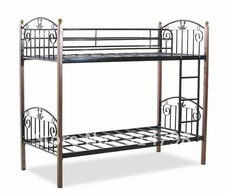 Modern Design Metal Bunk Bed Made Of Steel Tube And Birch