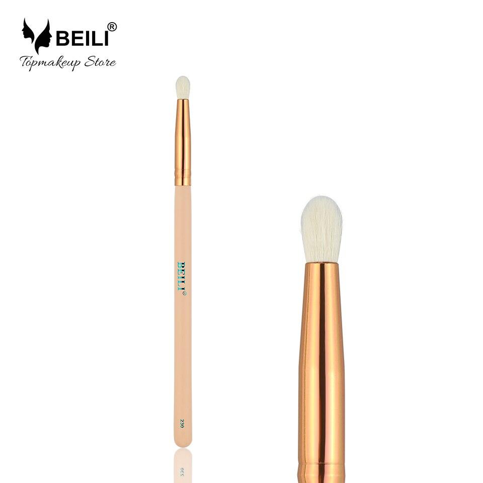 BEILI 230# Pink 100% Goat Hair Professional Luxury Rose Golden Eye Shadow Makeup Brush pink 100