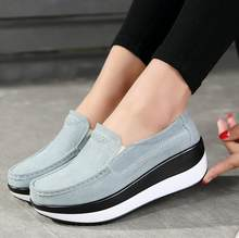 women Flat Summer Loafers Ladies Elegant Suede Leather Moccasins Shoes Female Slip On Casual Women Vulcanize Shoes 7 colors(China)