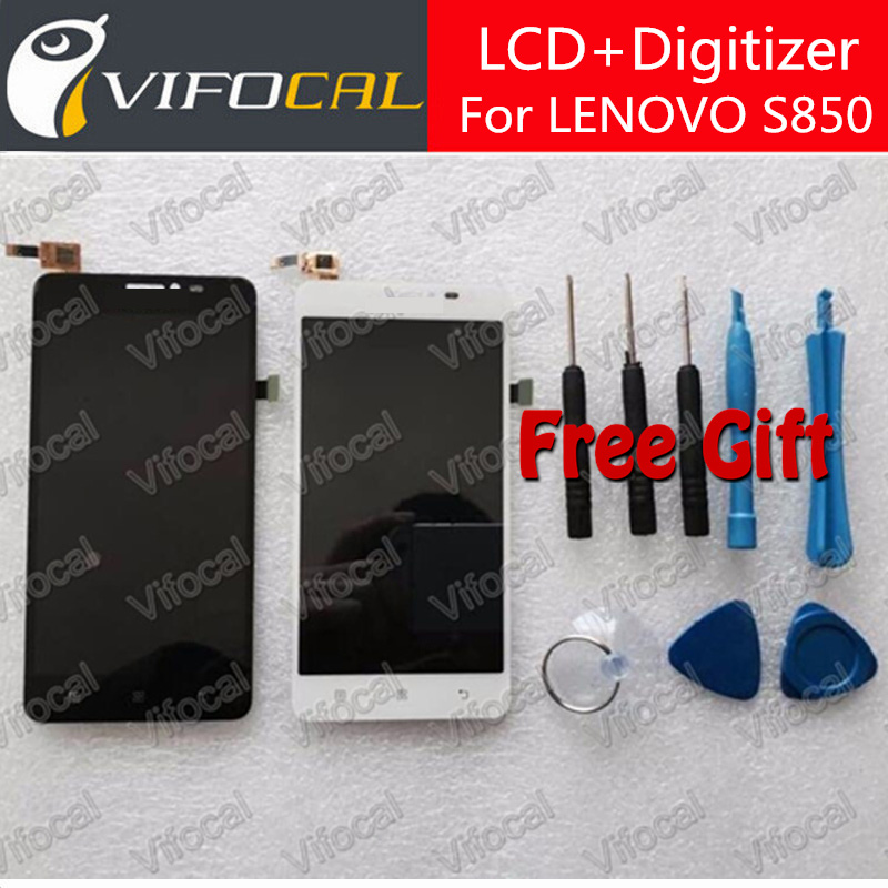 For LENOVO S850 LCD Display + Touch Screen Glass Panel Digitizer Assembly Replacement Repair Free shipping - White смеситель для кухни рмс sl77w 017f 1