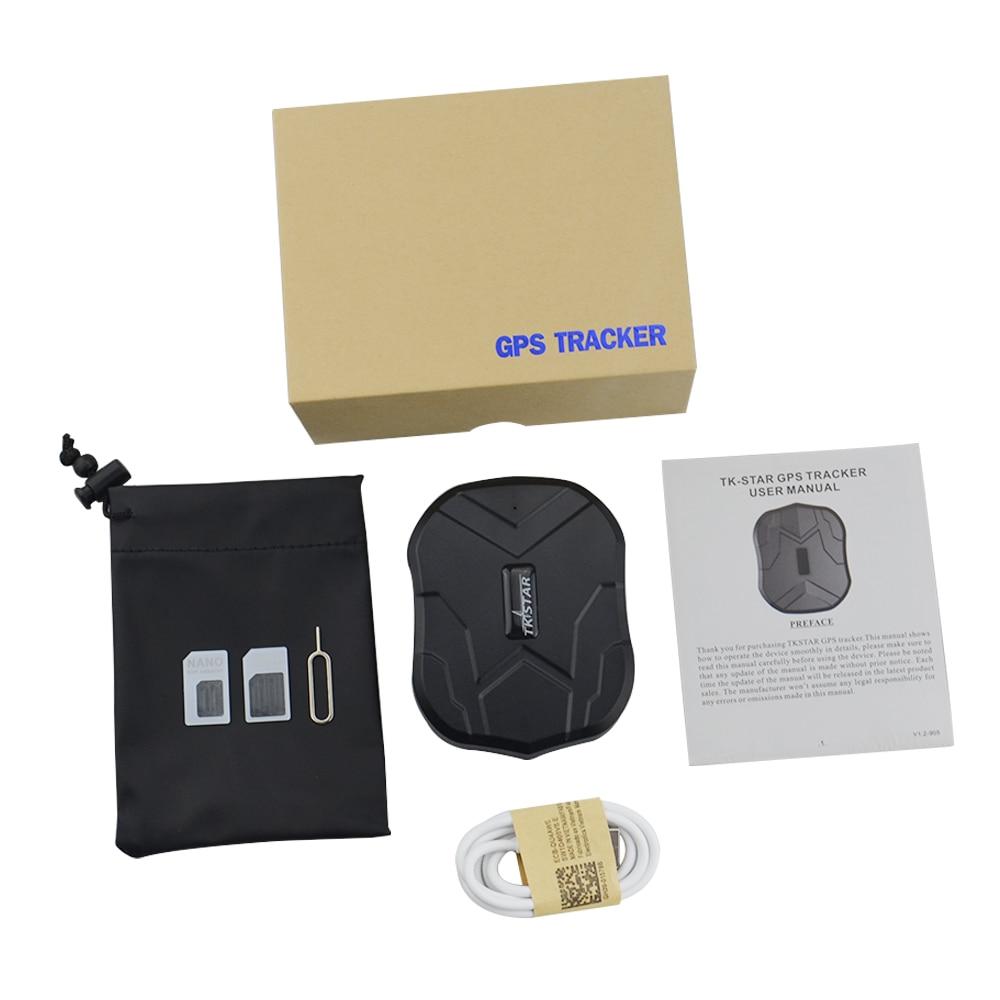 Traqueur de GPS de voiture de TK905 avec le Mini traqueur imperméable Global de localisation de GPS de GPRS GSM de moto d'app avec l'aimant fort