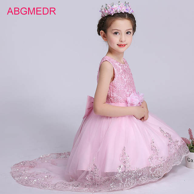 placeholder 2018 Girls High Low Dresses for Wedding and Party Children  Sequin Dress with Tails Monsoon Kids 41c52e77531f