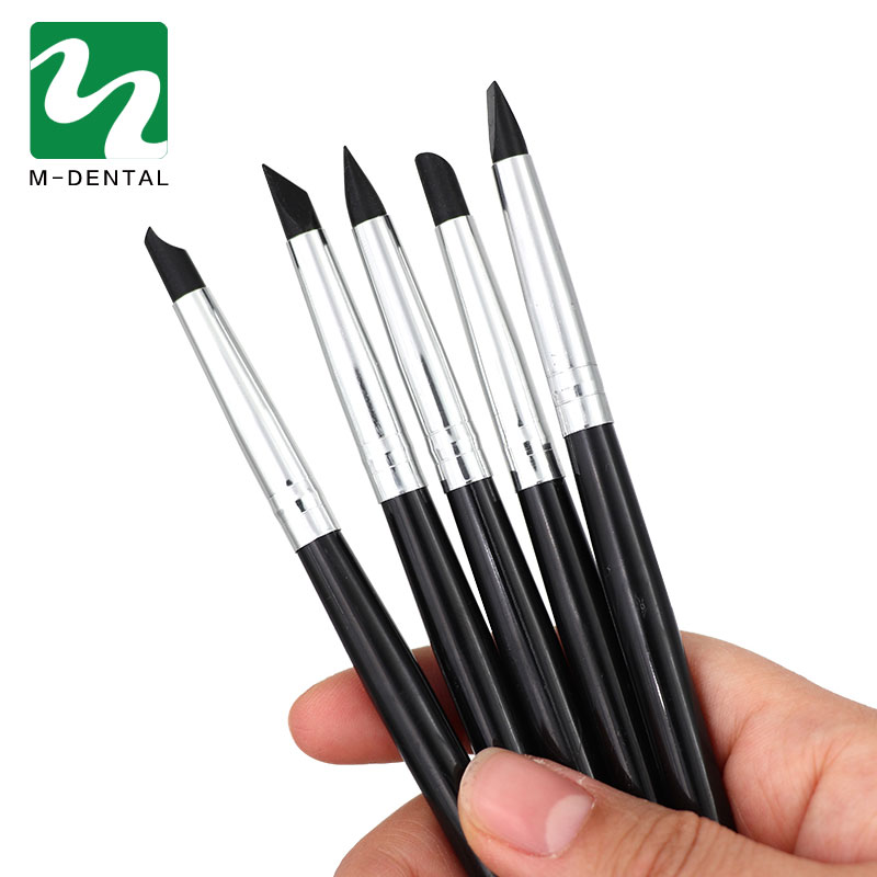 5pcs/bag Dental Resin Brush Pens Dental Shaping Silicone Tooth Tool For Adhesive Composite Cement Porcelain Teeth Dentist Tools