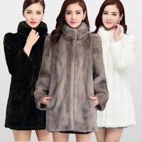 2018 Новая Мода Настоящий Полный Пелт норковая шуба для женщин теплые зимние пальто натуральный мех куртка большая акция для оптовой продажи