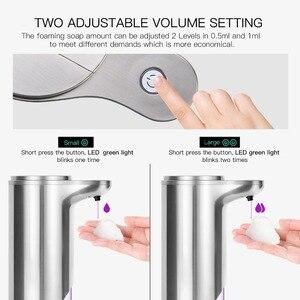 Image 4 - Автоматический диспенсер для мыла SVAVO280ml, инфракрасный сенсор, Бесконтактный дезодорант для ванной комнаты, регулируемый громкость, диспенсер для кухни