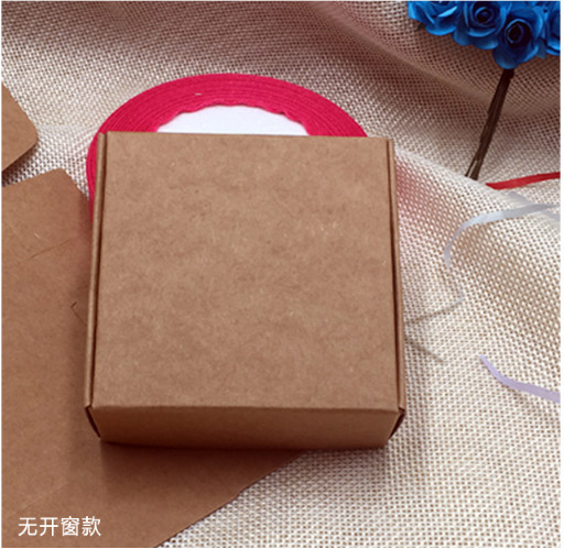 DHL 5 5 5 5 2 5cm Mini Brown Kraft Paper Snack Box Handmade Soap Business