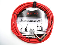 JOYO CM-12 15ft 4.5m Shielded Mono 6.3mm Male Angled Metal Plug Electric Guitar Bass Keyboard Cable Instruments Connecting Wire
