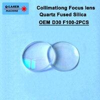 Spherical Collimating YAG Focus Lens D30 F100 2Pcs Precitec OEM Quartz Fused Silica for Fiber Laser Machine