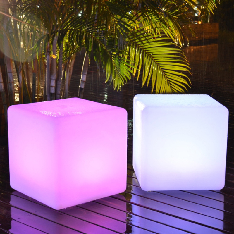 Online Shop 30*30*30CM LED Light Cube Stool Bar Party Event Decoration 16  Color Changing Night Light Chair LED Seat Free Shipping | Aliexpress Mobile