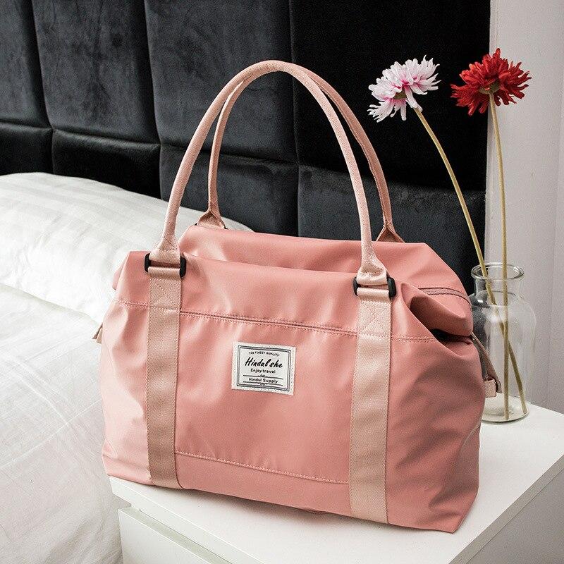Nylon Women Sport Bag Travel Gym Bags Luggage Bag Waterproof Fitness Duffle Bags Large Capacity Women Handbag