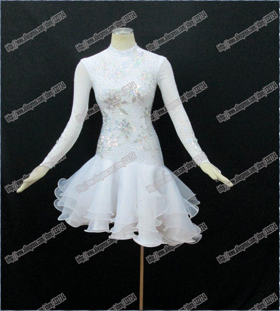 Rumba Jive Chacha Latin Dance Dress Ballroom Dress Latin Costume Women Real Latin Dress B -0036