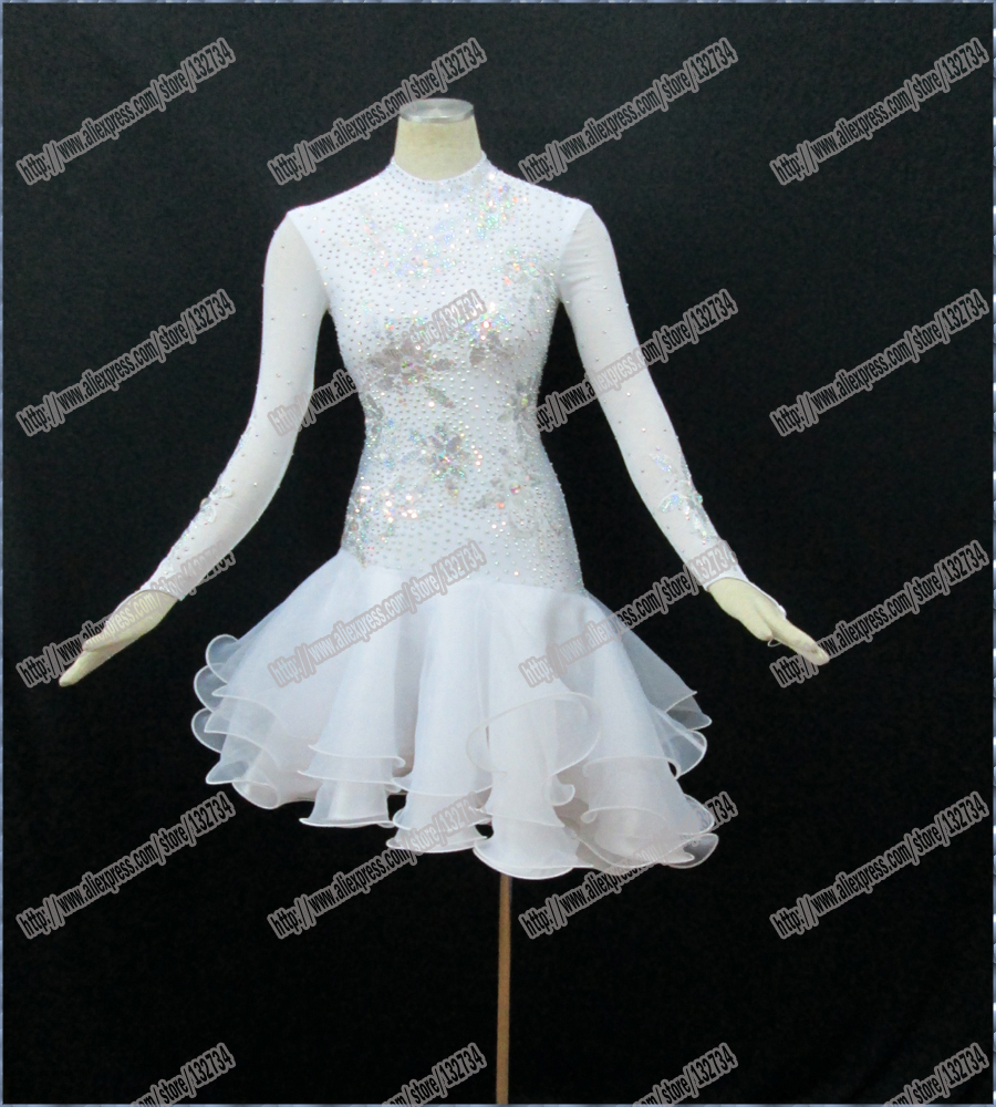 Rumba Jive Chacha robe de danse latine robe de salon Costume Latin femmes vraie robe latine B-0036