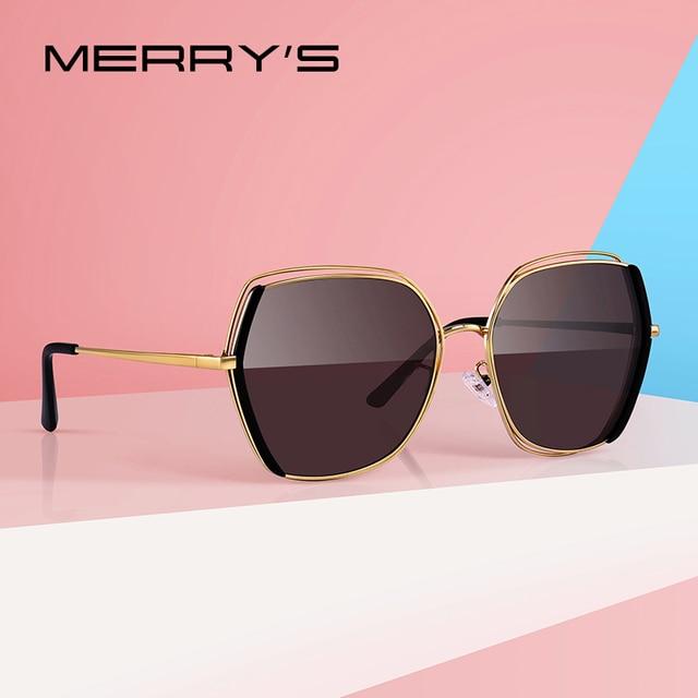 MERRYS gafas de sol polarizadas de lujo para mujer, lentes de sol con diseño a la moda, protección UV400 S6267