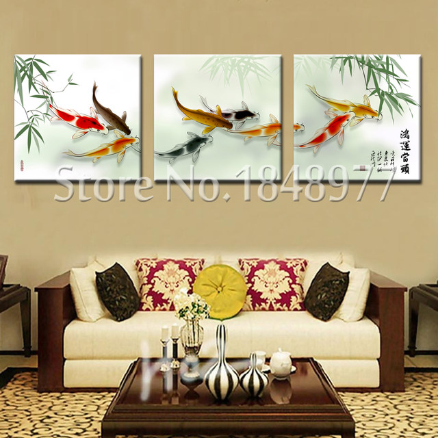 Online Shop 3 Pieces Coudros Home Decoration Printed On Canvas Wall ...