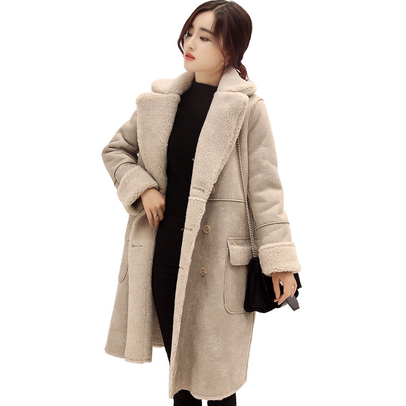 Winter Jacket Women Suede Lamb Wool Coats Warm Ukraine Long Wadded Padded Jacket Female Winter Coat Thicken Cotton Parka C2673 shot 300
