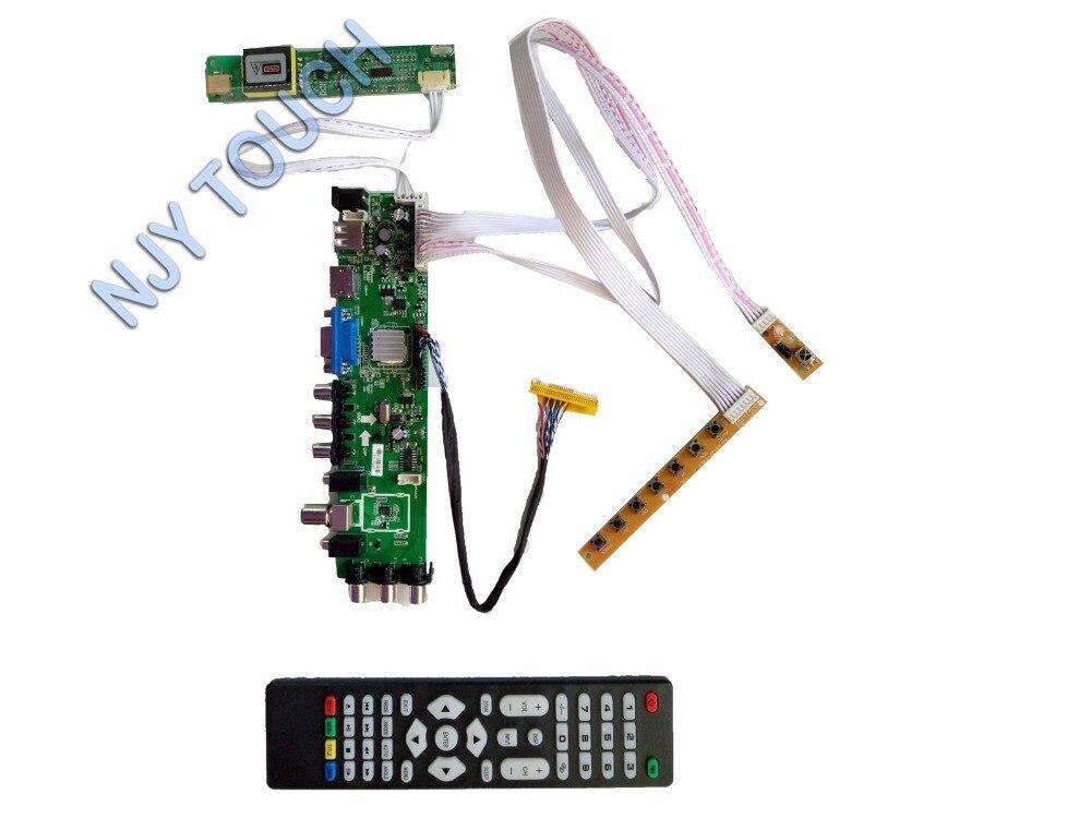Z.VST.3463 DVB-C DVB-T DVB-T2 LCD Controller Board kit For LCD LP154WX4 1280X800 Screen