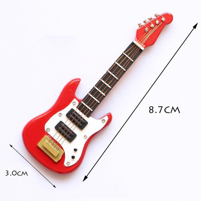 Guitar Accessories Dollhouse Miniature Instrument Part for Decor Kid Wood Furniture Craft Ornament 1/12 Scale