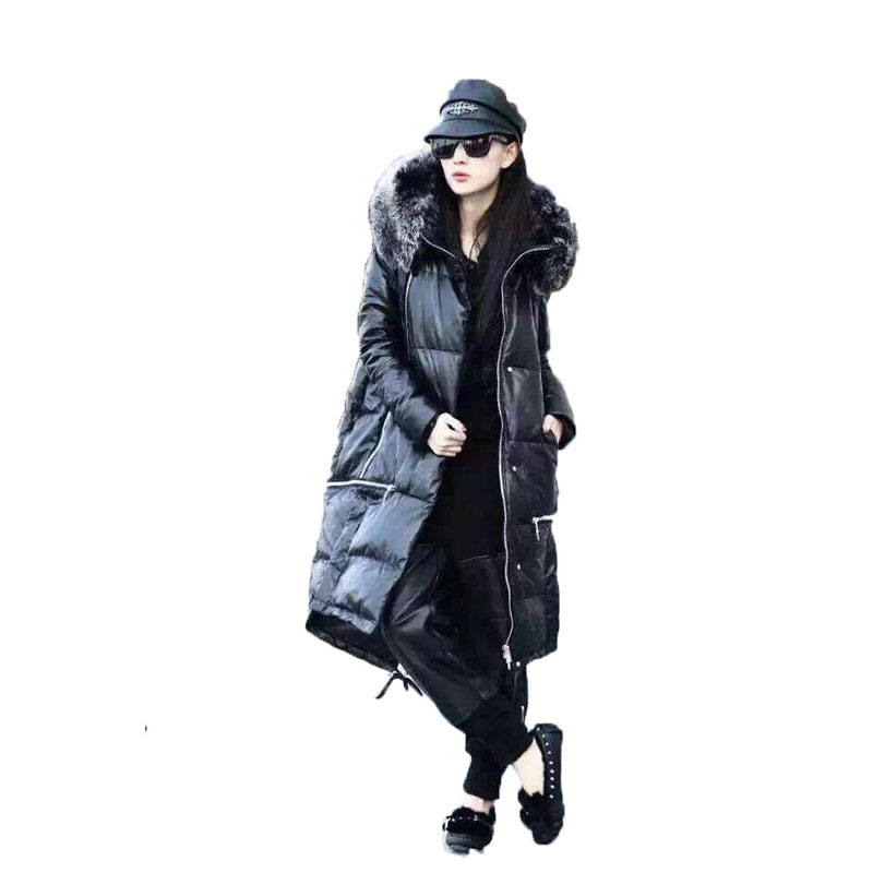 Manteau de fourrure véritable veste en cuir véritable manteau en peau de mouton automne hiver veste femmes vêtements 2019 coréen bas manteaux haut pour femme ZT1566