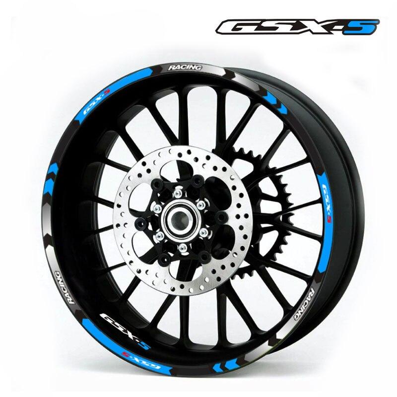 High Quality Motorcycle Reflective Sticker  Rim Stripes Decals 17inch Wheel Sticker Reflective Tape For Suzuki GSX-S 1000 1000F