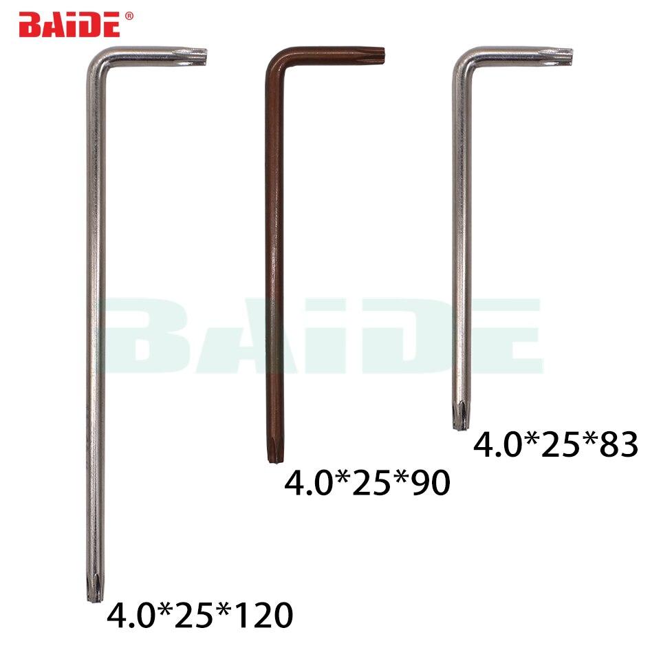 4.0 مللي متر توركس T15 T20 L مفتاح مع حفرة 45 # و S2 الصلب مفك الجملة 200 قطعة/الوحدة