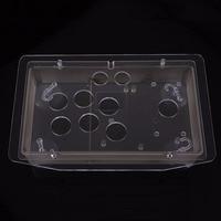 Gasky DIY Arcade Joystick Case Arcylic Material Led Hole Design Arcade Machine Joystick Acrylic Panel Case